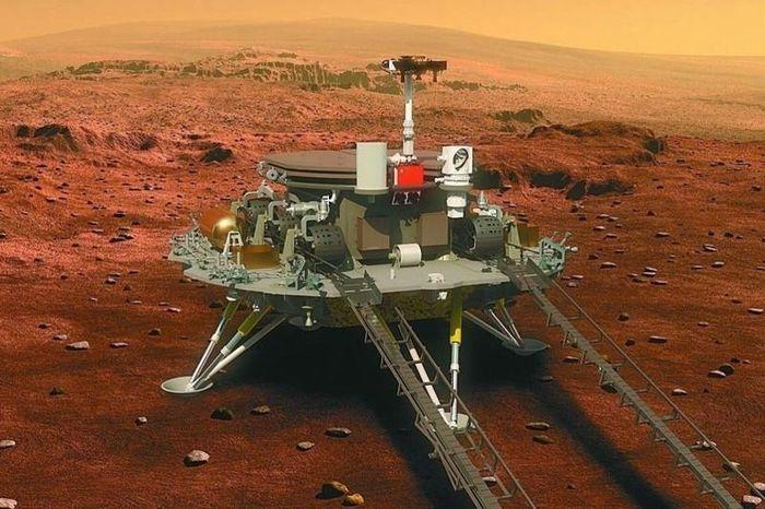 Tàu thám hiểm Trung Quốc đáp thành công lên bề mặt Sao Hỏa