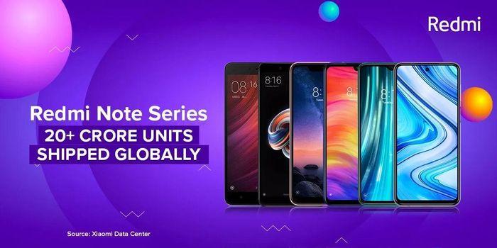 200 triệu smartphone dòng Redmi Note được bán trên toàn cầu