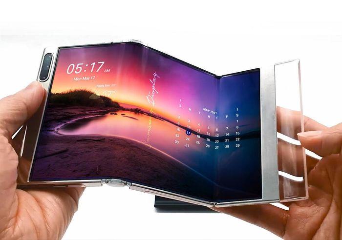 Samsung Display trình làng tấm nền OLED có thể gập lại hai lần