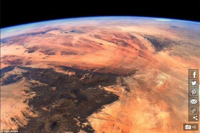 Phi hành gia tiết lộ khu vực trên Trái Đất giống hệt sao Hỏa