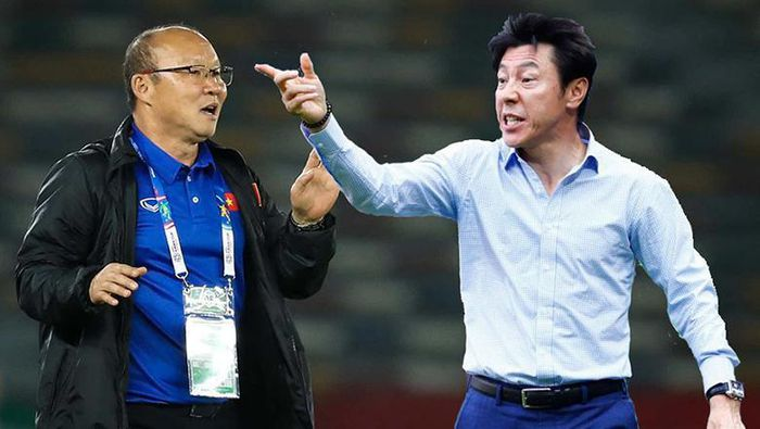 HLV Park Hang-seo thua 80% số trận gặp đàn em Shin Tae-yong