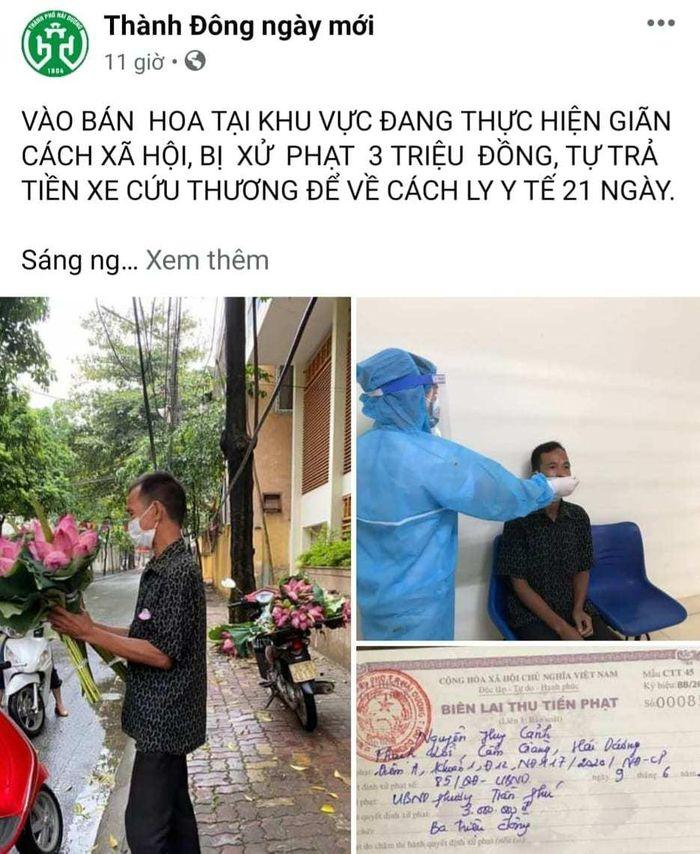 Người đàn ông nghèo Hải Dương bán hoa sen bị phạt, nhiều người thương cho tiền Ảnh 3
