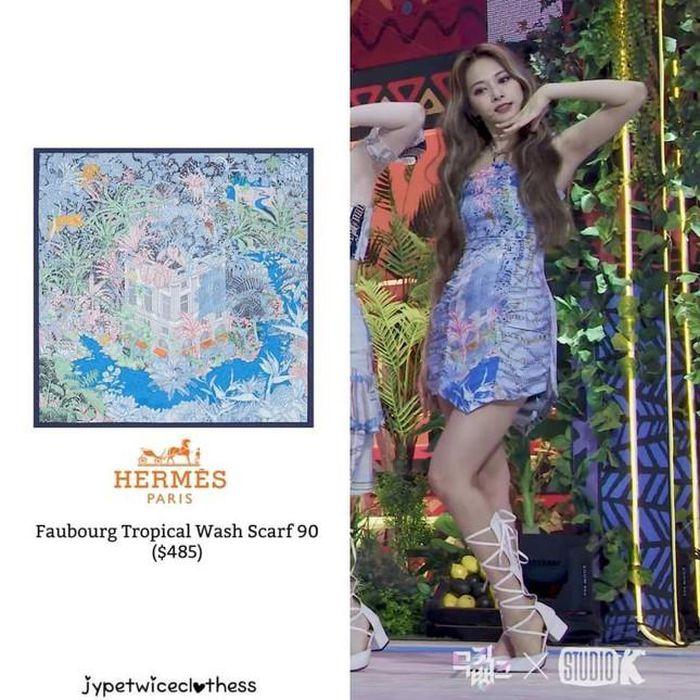 Stylist cắt xẻ khăn Hermès làm vải may đồ cho TWICE, netizen nghi ngờ dùng hàng superfake?