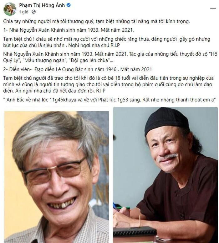 Loạt sao Việt xót thương trước sự ra đi của đạo diễn Lê Cung Bắc
