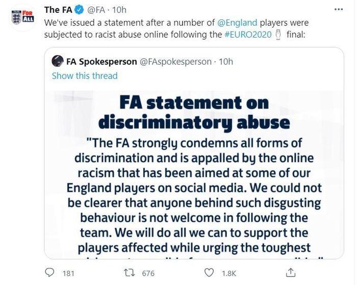 FA kêu gọi điều tra vụ 3 tuyển thủ Anh bị phân biệt chủng tộc-liên kết cá cược-hack game fishing casino-TB casino