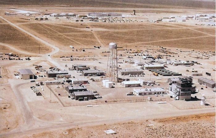 Headquarters of Squadron 4477 in the desert of Nevada, USA.