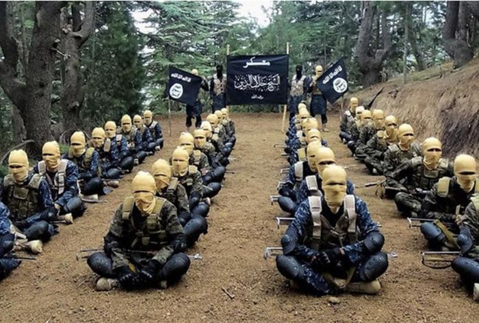 An ISIS-K propaganda photo showing its fighters.
