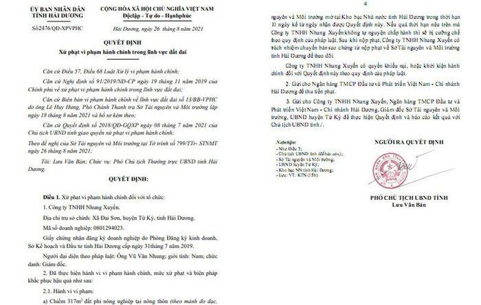 Công ty Nhung Xuyến Hải Dương chiếm, san lấp trái phép: Lại phạt cho tồn tại?