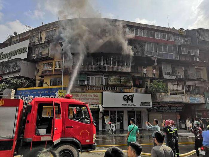 Vụ cháy tại tập thể cũ trên phố Phạm Ngọc Thạch năm 2018