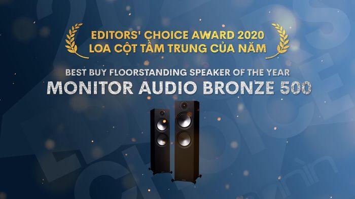 Editors' Choice Awards 2020 - Monitor Audio Bronze 500 – Loa cột tầm trung của năm