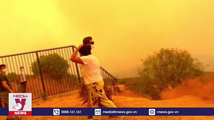 Cháy rừng tại Chile buộc hàng chục nghìn người phải sơ tán