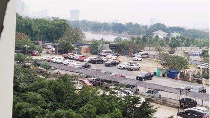 Hà Nội: Bãi xe không phép tồn tại nhiều năm tại phường Hoàng Liệt