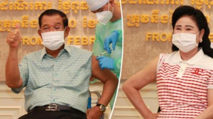 Thủ tướng Hun Sen tiêm vaccine ngừa Covid-19, dịch bệnh ở Campuchia tiếp tục phức tạp