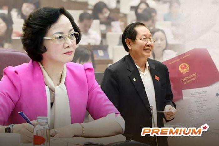 Nỗi niềm chứng chỉ và câu trả lời của 2 Bộ trưởng Nội vụ