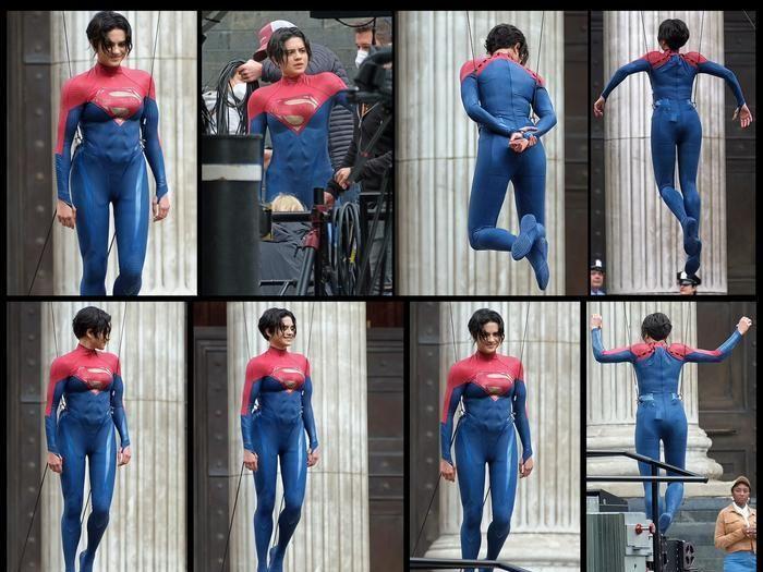 Ảnh hậu trường 'The Flash' bị lộ: Supergirl là con gái của Superman?